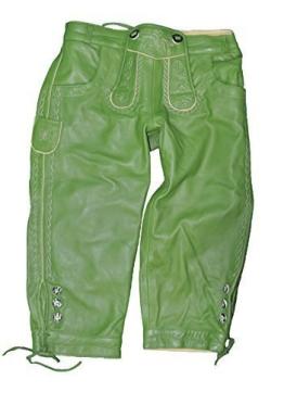 Damen Lammnappa Trachten Lederhose in grün Artikel Franzi 40 - 1