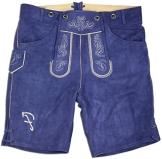 Feliziano - Kurze Designer-Lederhose in verschiedenen Farben, stylische Trachtenlederhose für Herren (52, Blau) - 1