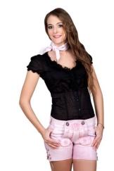 Highlight! Sexy Damen Trachten Ledershorts Pink Princess aus weichem Rindleder Gr 36 - 1