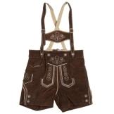 ISAR TRACHTEN Leder-Hose Baby-Trachtenhose, Größe 80, braun - 1
