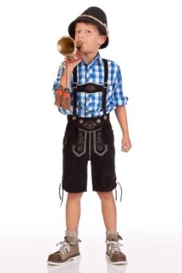 Kinder Lederbermuda - 60.014 - schwarz, Größe 128 - 1