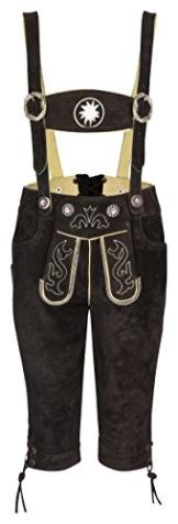 Kinder Trachtenlederhose - Kniebundlederhose mit abnehmbaren Hosenträgern - Trachten Lederhose Original FROHSINN für Jungs und Mädchen - Alle Größen! - 1