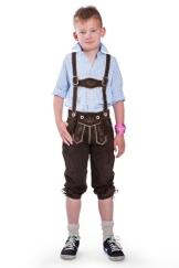 Original Steindl München-Salzburg Kinderlederhose dreiviertel lang-140 - 1