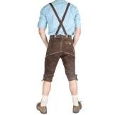 Trachten Lederhose Kniebund Braun by Engelleiter aus Rindsleder- Größe 50 - 1