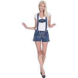 Trachten Lederhose Shorts, rauchblau in Größe 36 - 1