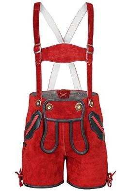 Unisex - Kinder M.Stützle Kinderlederhose rot, rot, 104 - 1
